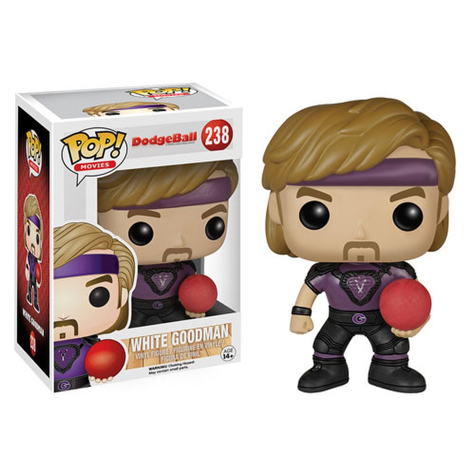 Dodgeball White Goodman Pop Vinyl Figure Pop In A Box Uk