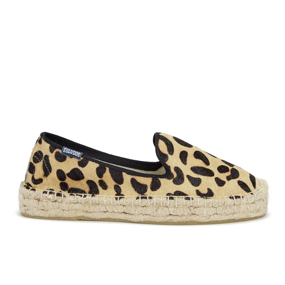 ad416d49ac8b UPC 849071090264 product image for Soludos Women's Calf Hair Platform Espadrille  Smoking Slippers - Leopard Print ...