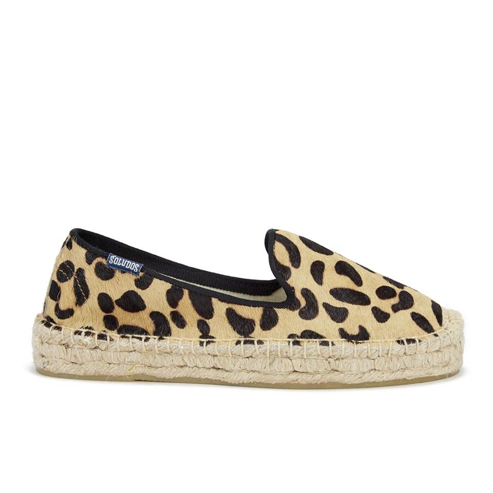 4384da679536 UPC 849071090264 product image for Soludos Women's Calf Hair Platform Espadrille  Smoking Slippers - Leopard Print ...