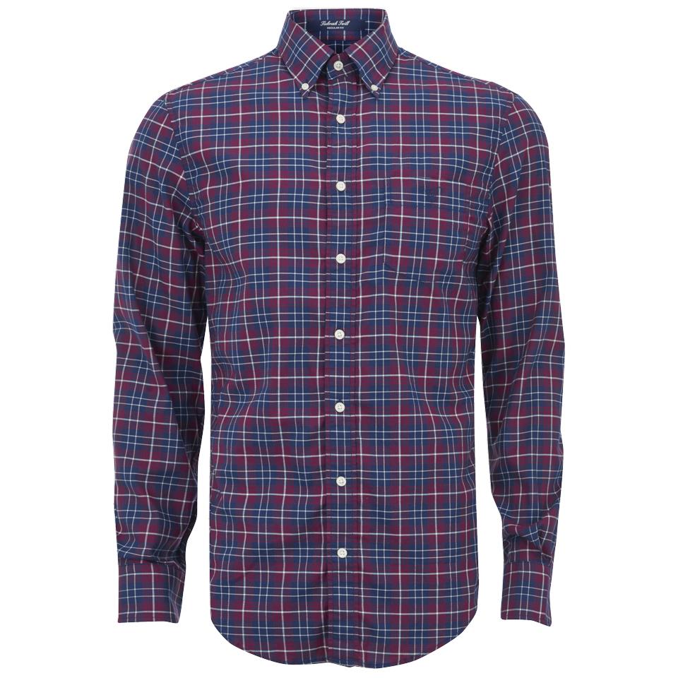 24750dbb77f GANT Men s Tiebreak Twill Check Shirt - Mahogany Red Mens Clothing ...