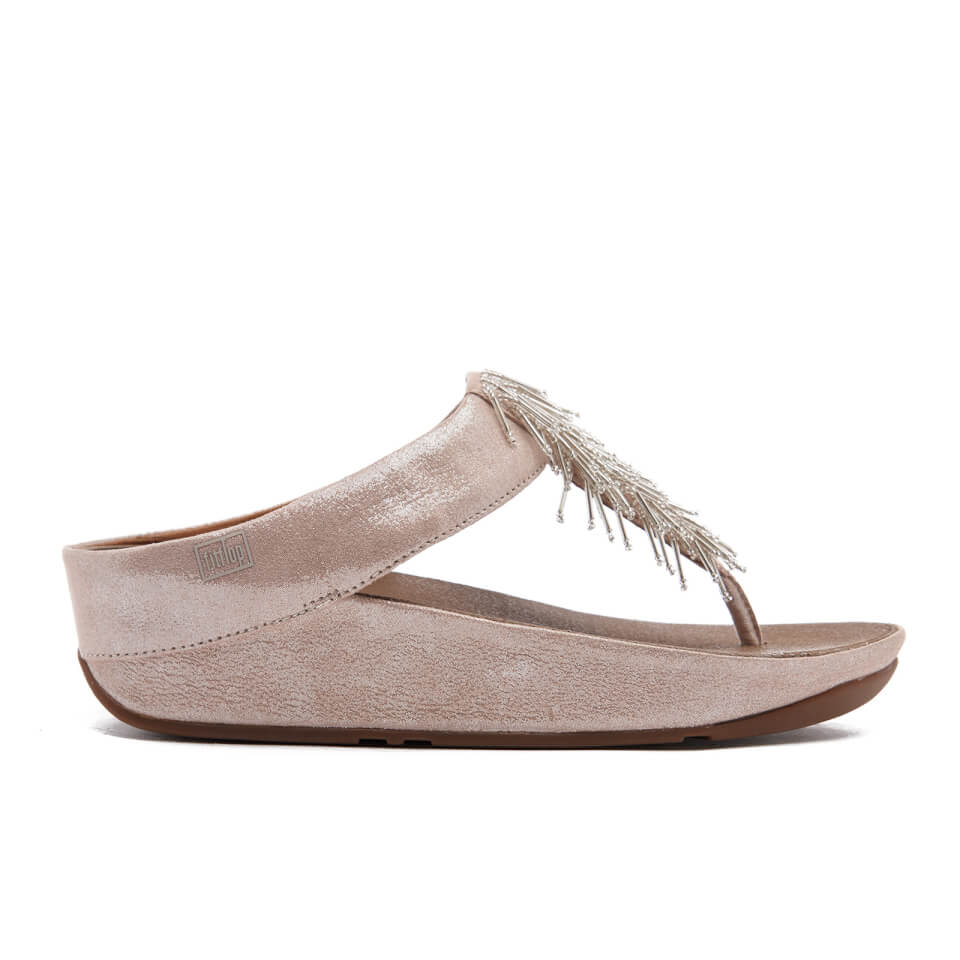 fitflop-women-cha-cha-leathersuede-tassel-toe-post-sandals-silver-3