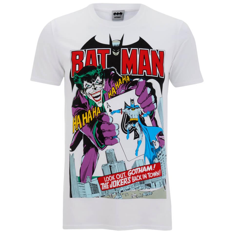 DC Comics Batman Joker zurück in der Stadt Herren T Shirt Weiss L Weiß