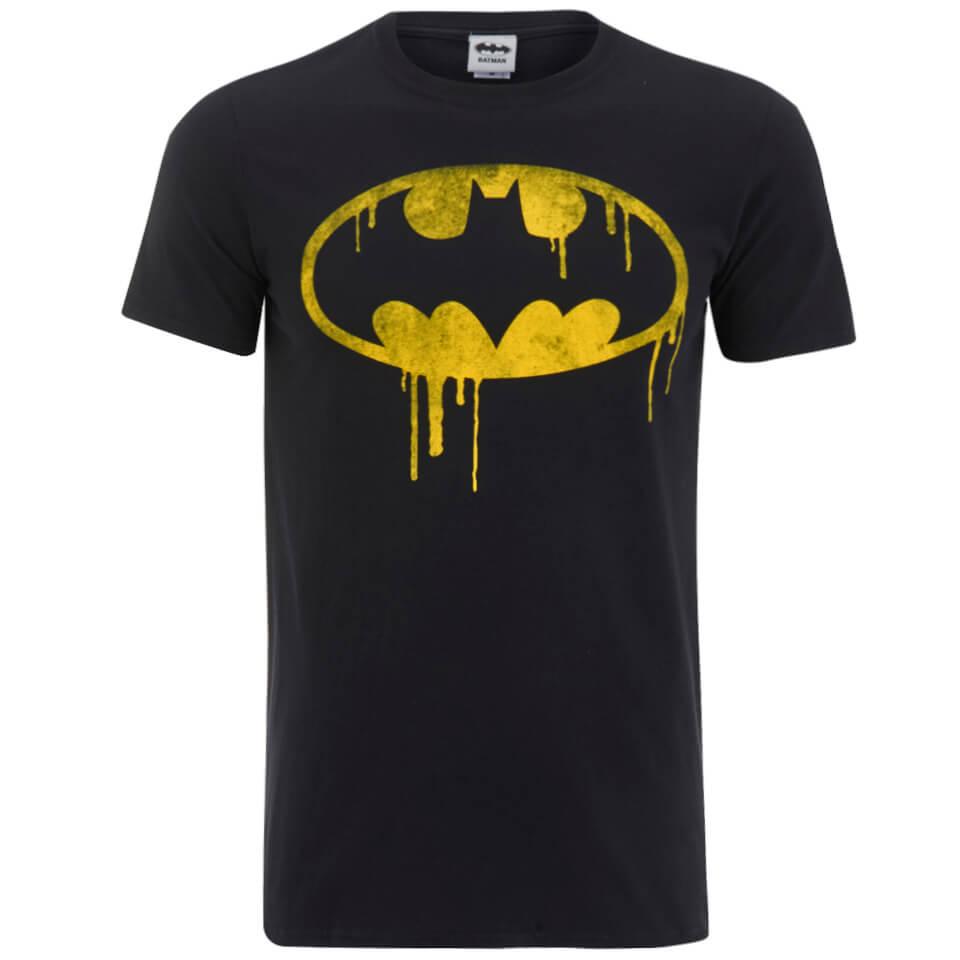 DC Comics Batman Dripping Logo Herren T Shirt Schwarz XL Schwarz