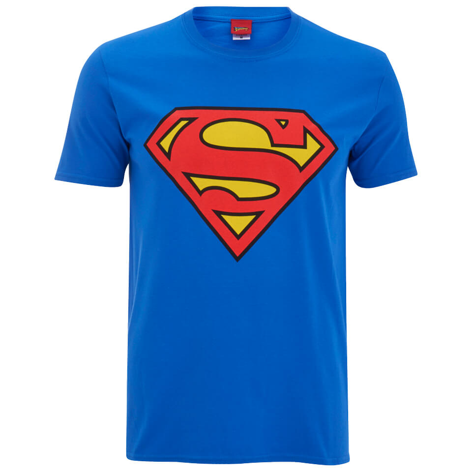 DC Comics Superman Logo Herren T Shirt Blau L Blau