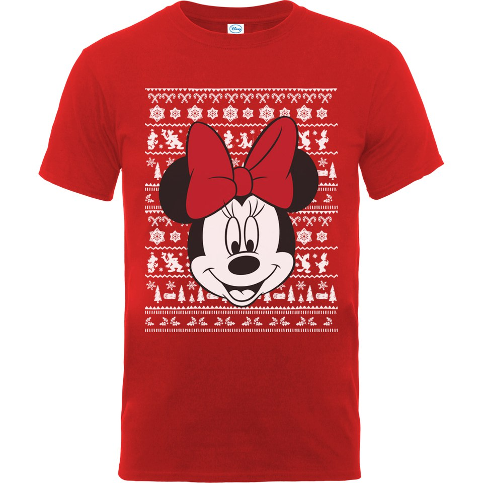 Christmas Minnie Mouse Head.Disney Mickey Mouse Men S Christmas Minnie Head T Shirt Red