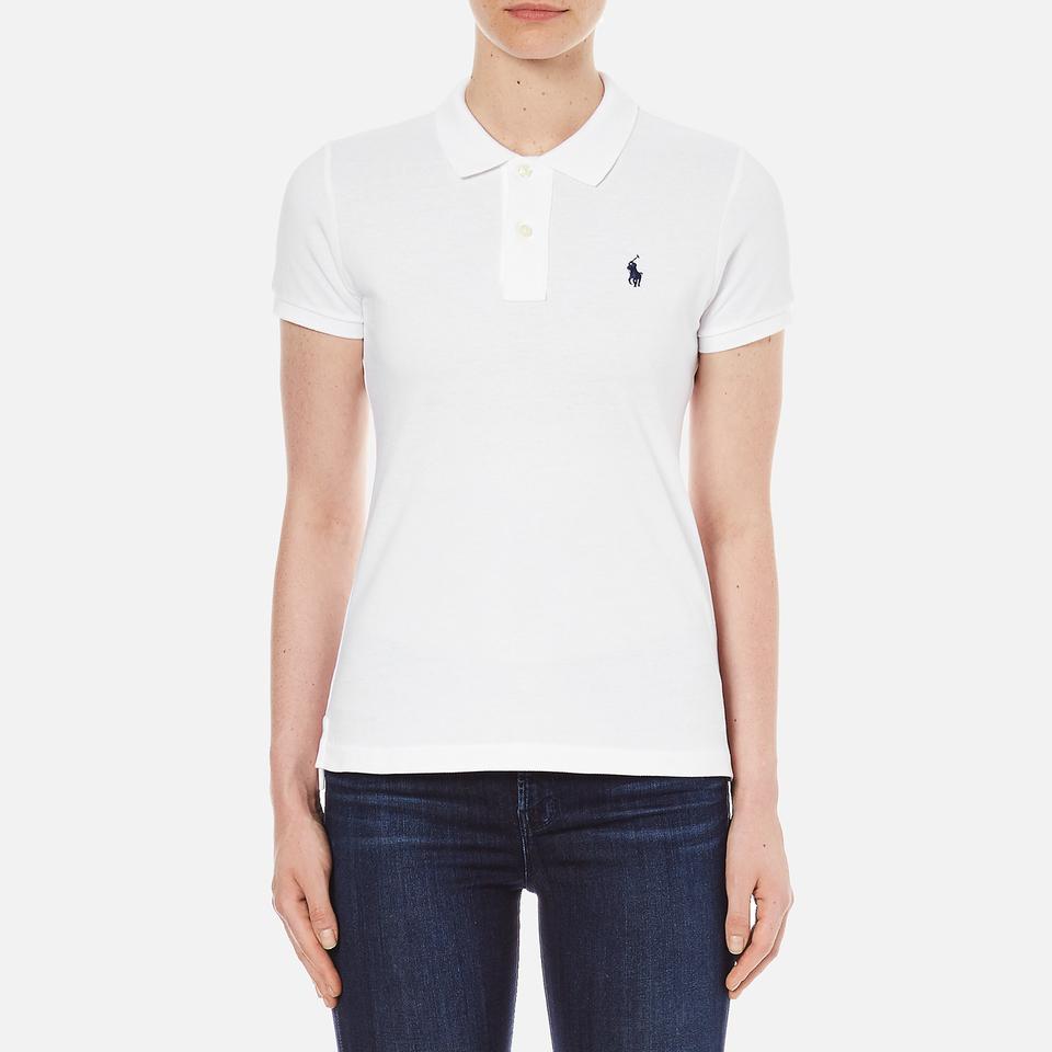 Polo Ralph Lauren Womens Skinny Fit Polo Shirt White M/uk 10