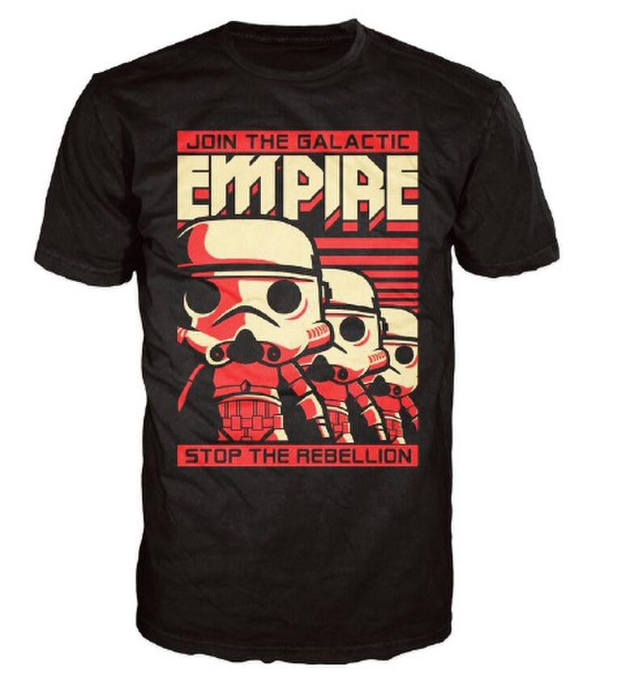 Star Wars Stormtrooper Poster Pop! T Shirt Black L Schwarz