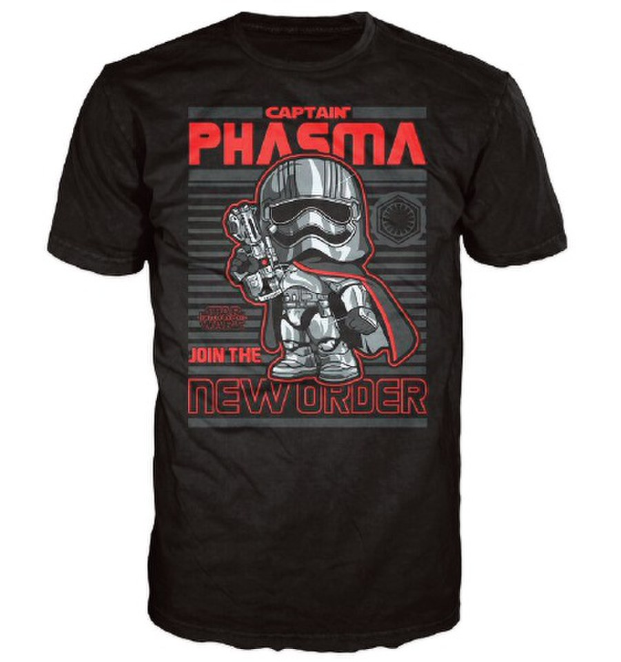 Star Wars The Force Awakens Captain Phasma Poster Pop! T Shirt Black XXL Schwarz