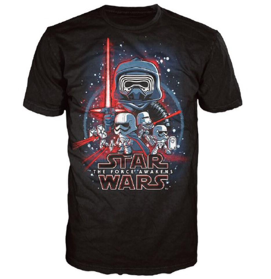 Star Wars The Force Awakens Poster Pop! T Shirt Black XXL Schwarz