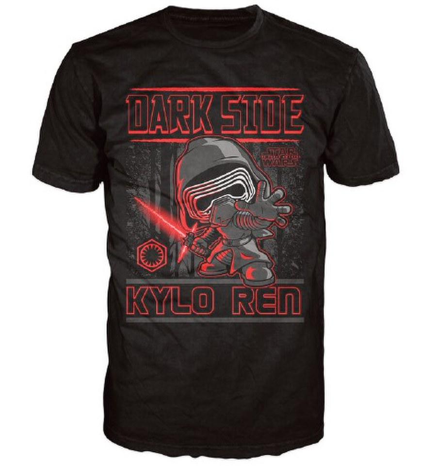 Star Wars The Force Awakens Kylo Ren Poster Pop! T Shirt Black L Schwarz