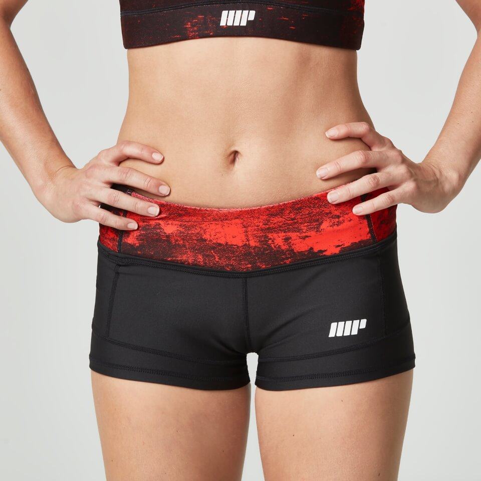 Myprotein Women's Power Shorts - Red Concrete - UK 6