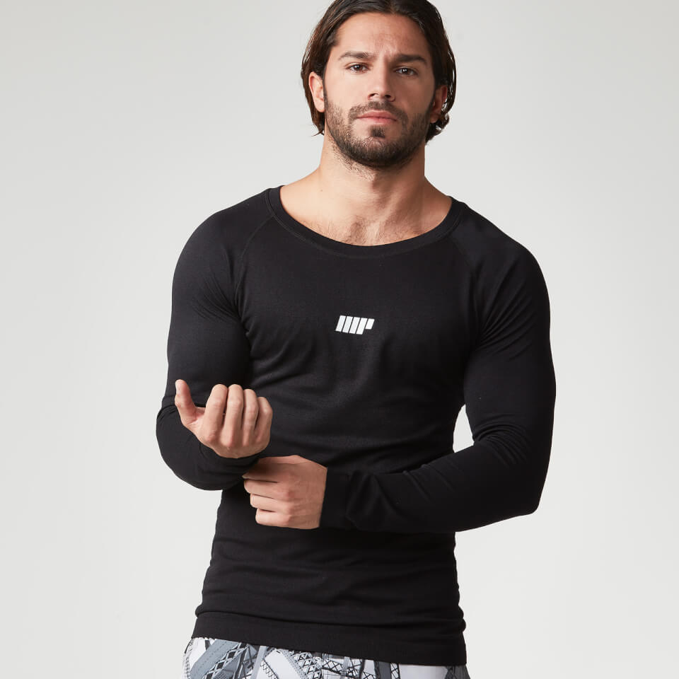 Myprotein Men's Seamless Long Sleeve Performance Top - Black - XL 11211460