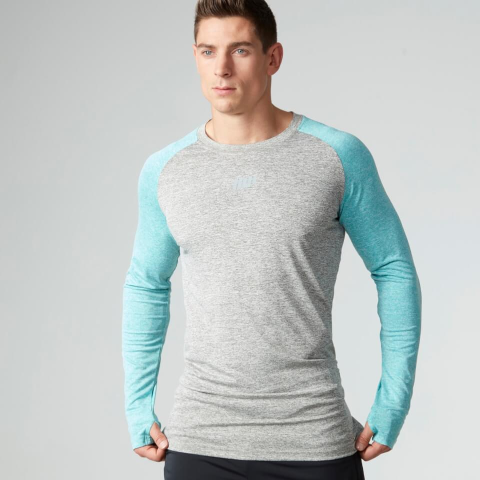 Foto Myprotein Men's Long Sleeve Loose Fit Training Top - Grey & Blue - M Camicie e top