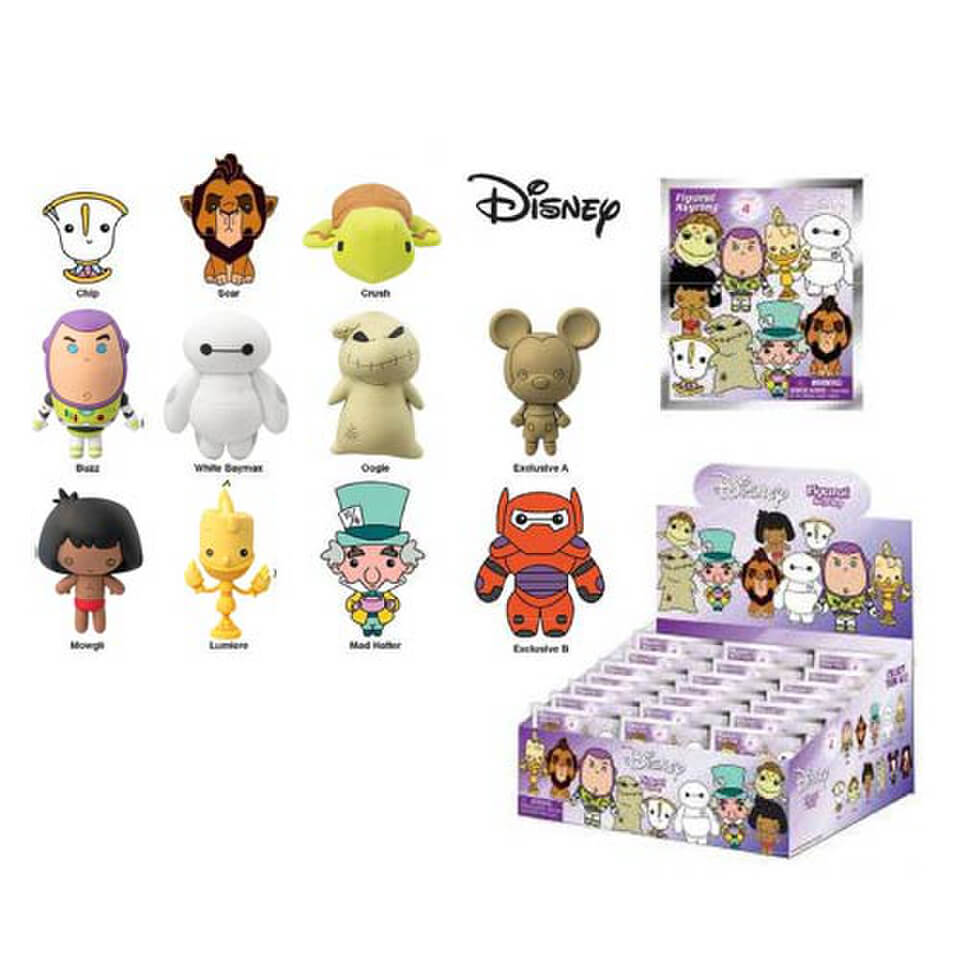 Disney Series 4 3d Figural Keychain Pop In A Box Uk