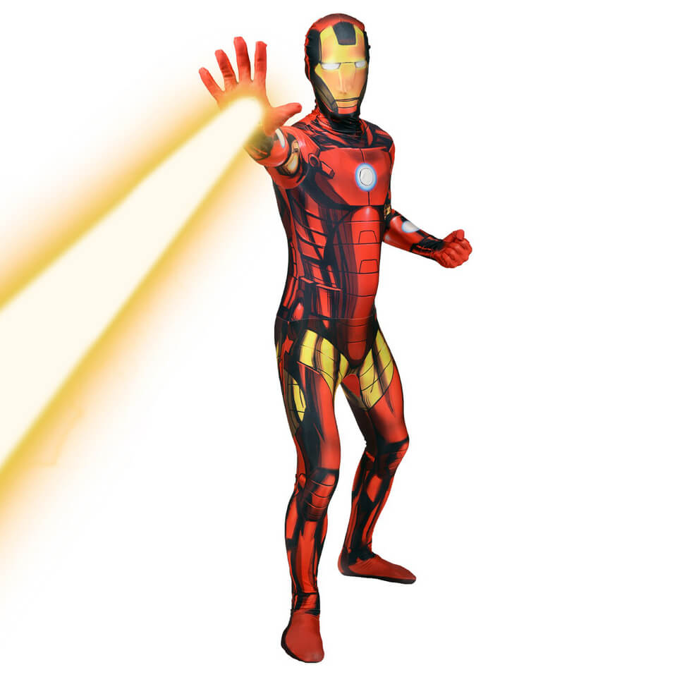Morphsuit Adults' Deluxe Zapper Marvel Iron Man L Rot
