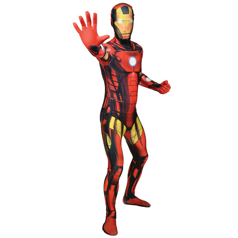 Morphsuit Adults' Marvel Iron Man L Rot