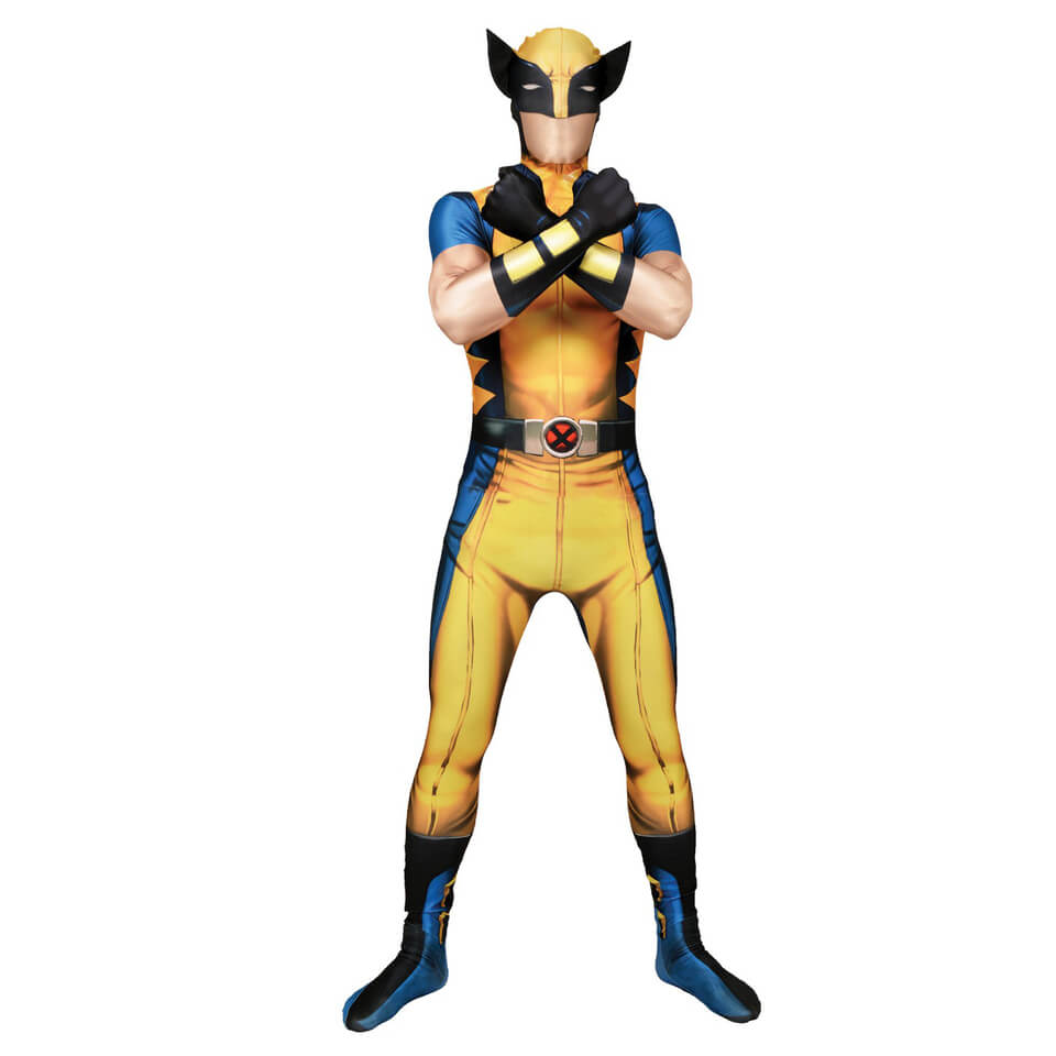 Morphsuit Adults' Marvel Wolverine XL Gelb