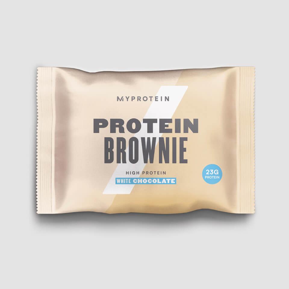 Protein Brownie - 12 x 75g - Weiße Schokolade