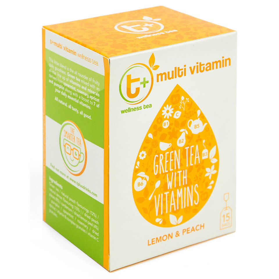 Buy T Multi Vitamin Tea Lemon And Peach Myvitamins Uk