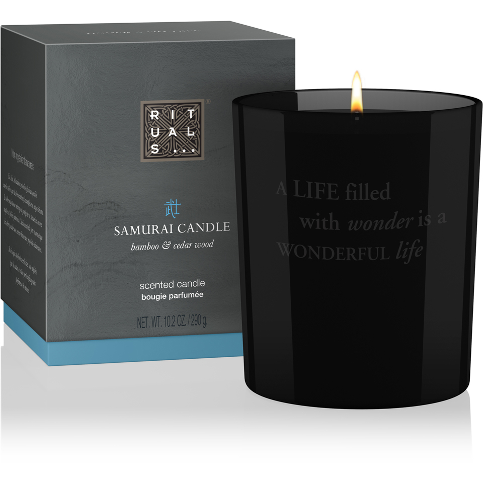 Rituals samurai candle scented candle 290g buy online for Candele on line