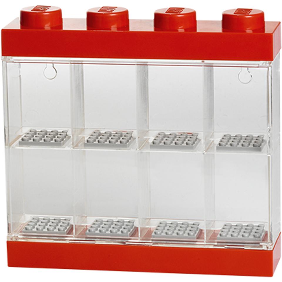 LEGO Mini Figure Display (8 Minifigures)   Bright Red