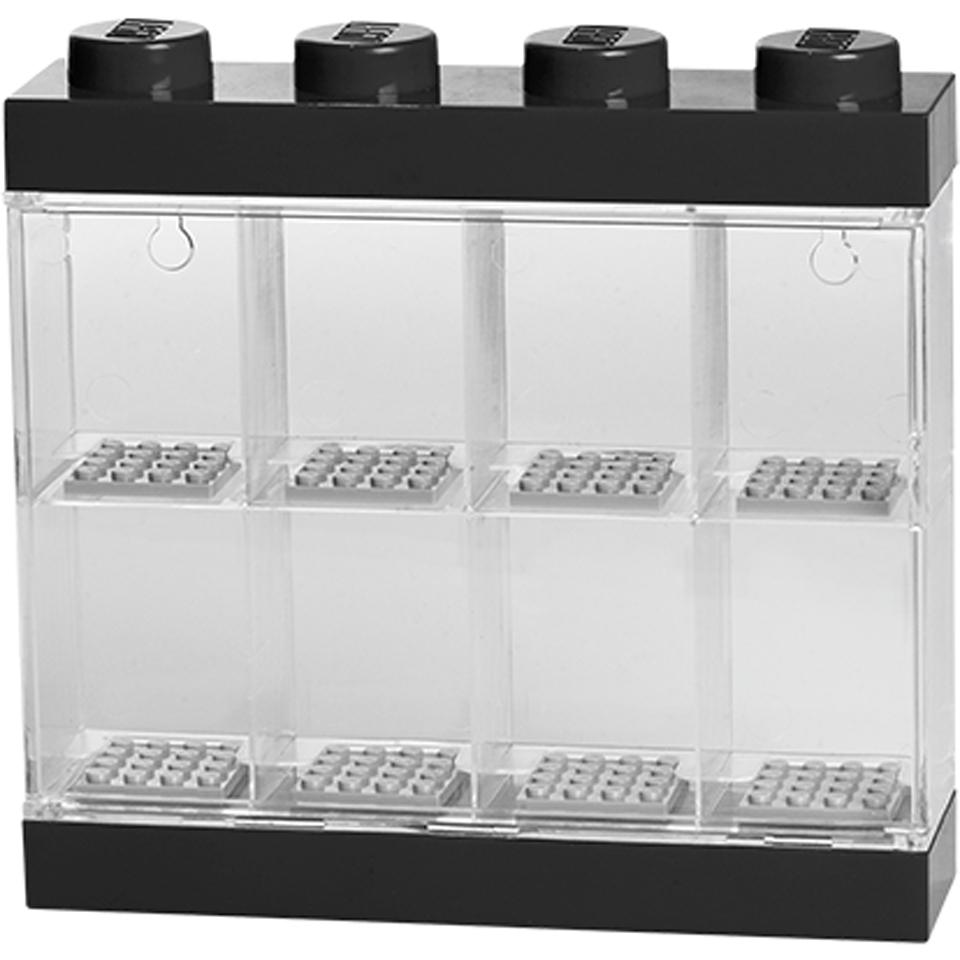 LEGO Mini Figure Display (8 Minifigures)   Black