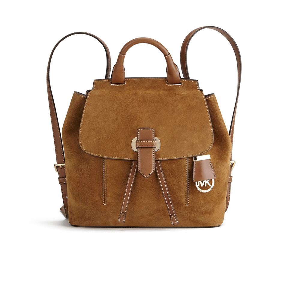 MICHAEL MICHAEL KORS Women s Romy Suede Backpack - Dark ... ad24ce385e
