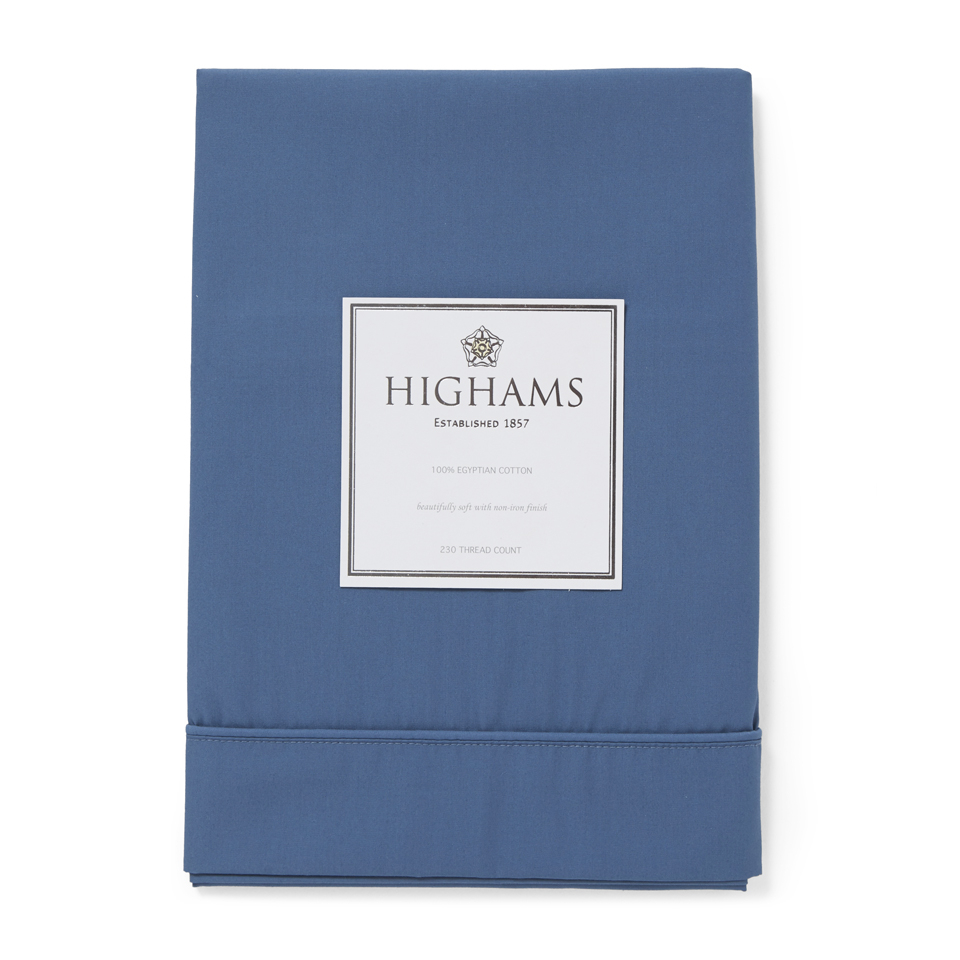 highams-100-egyptian-cotton-pillowcase-steel-blue
