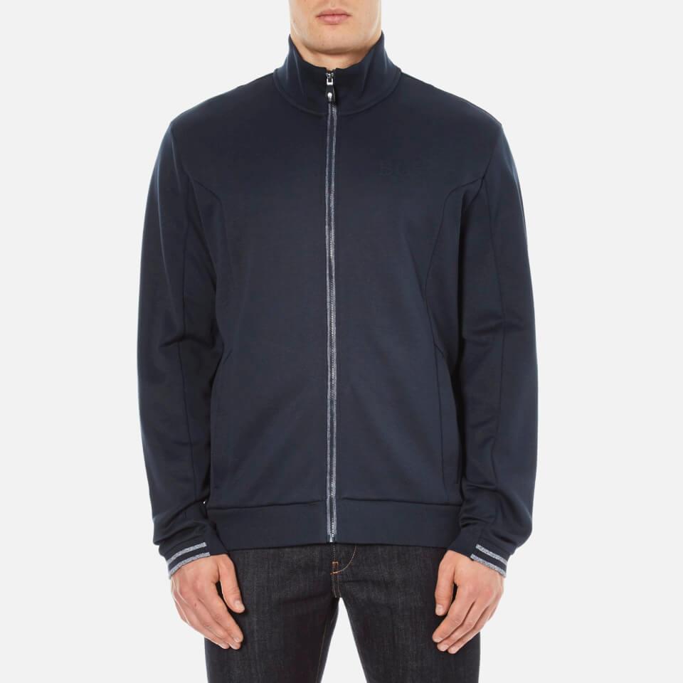 Boss Green Mens Skaz Zipped Sweatshirt Navy M