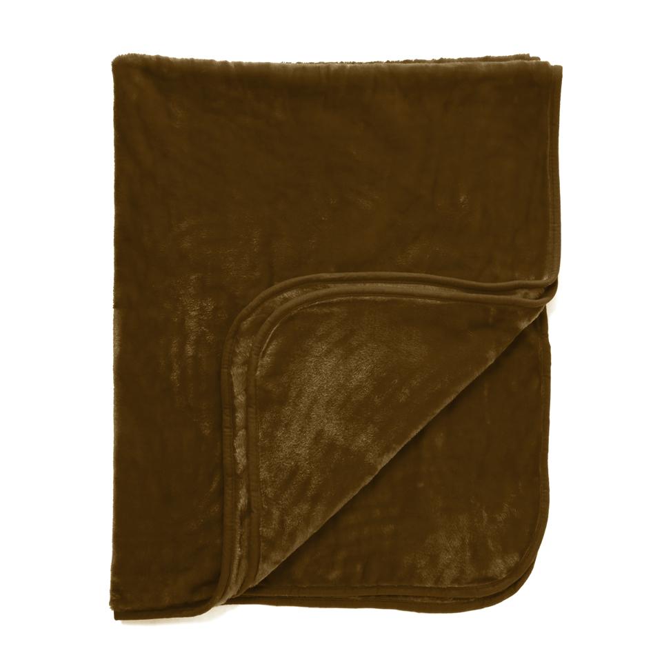 Dreamscene Luxurious Faux Fur Throw - Chocolate - 200x240cm - Brown