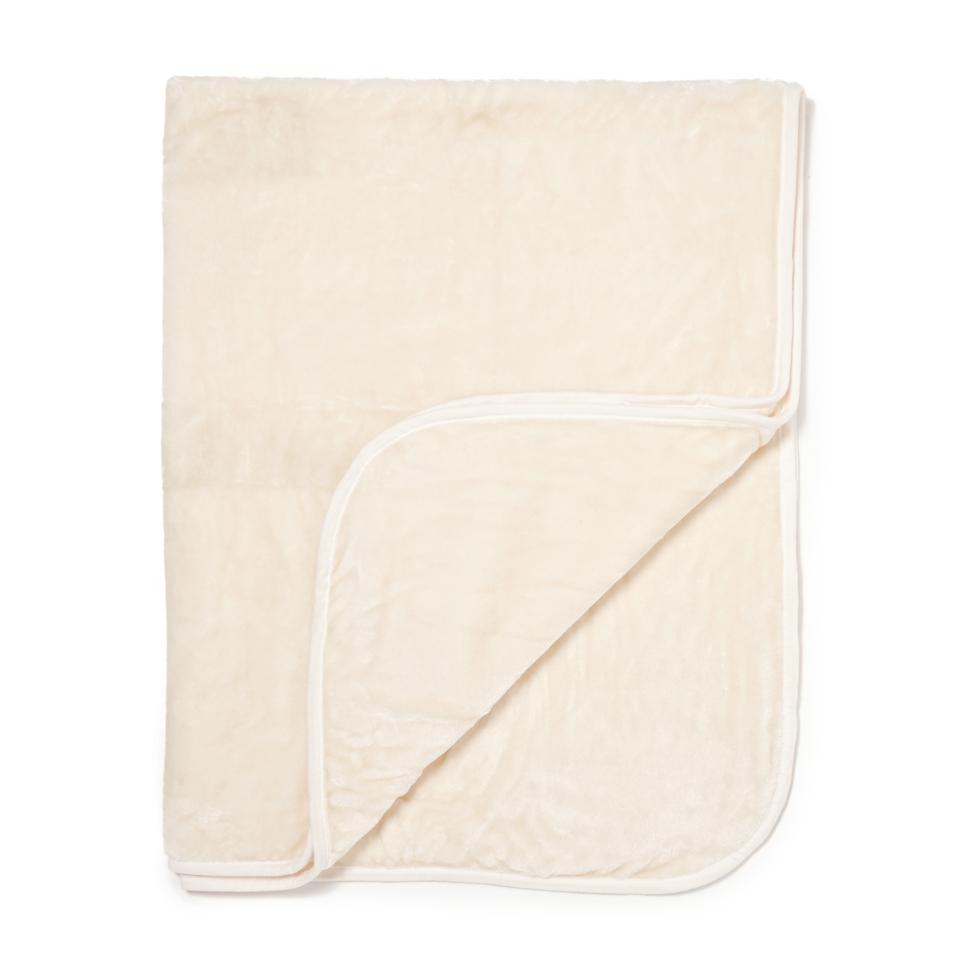 Dreamscene Luxurious Faux Fur Throw - Cream - 125x150cm - Crema