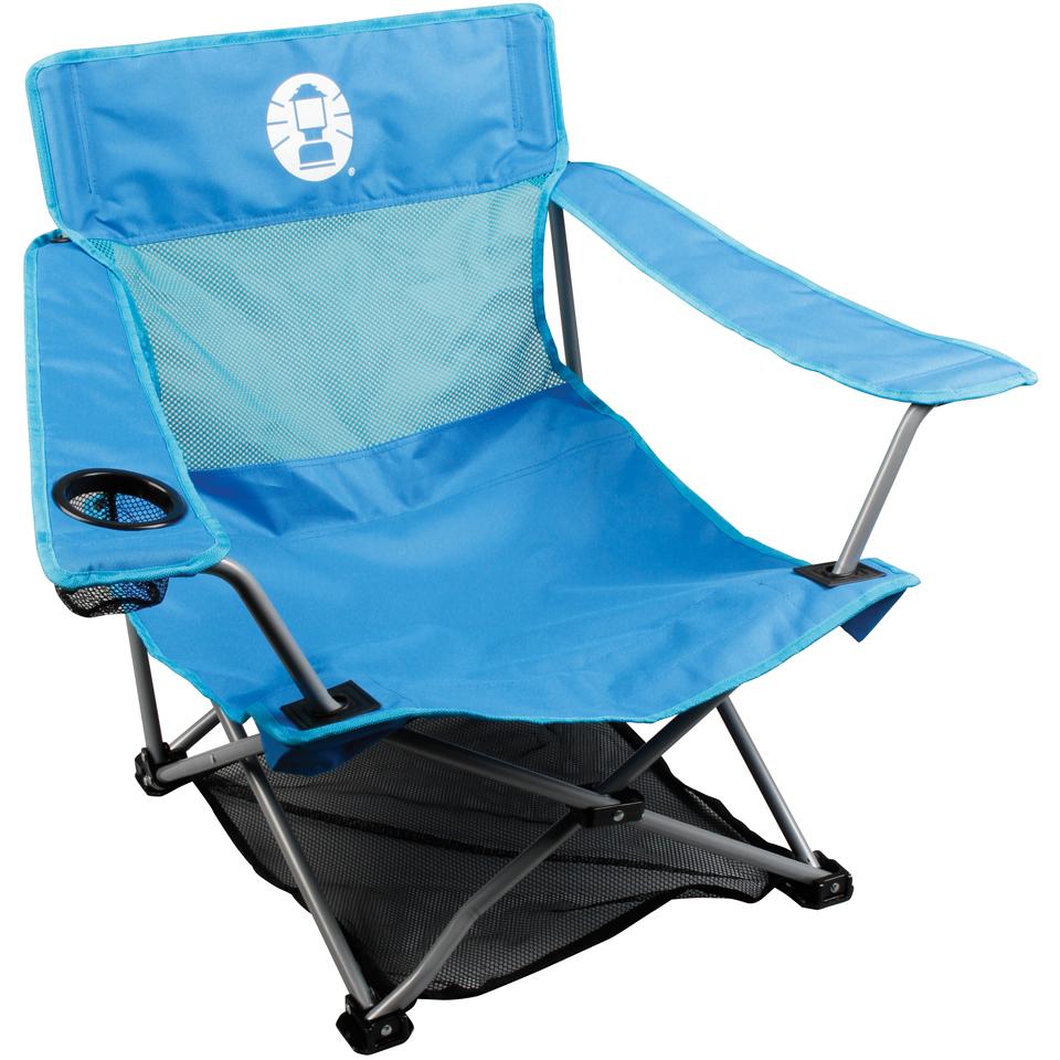 Coleman Low Quad Folding Chair Blue Garden Thehut Com
