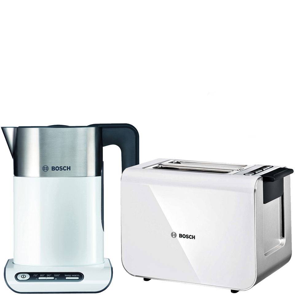 bosch styline collection kettle and toaster bundle white iwoot. Black Bedroom Furniture Sets. Home Design Ideas