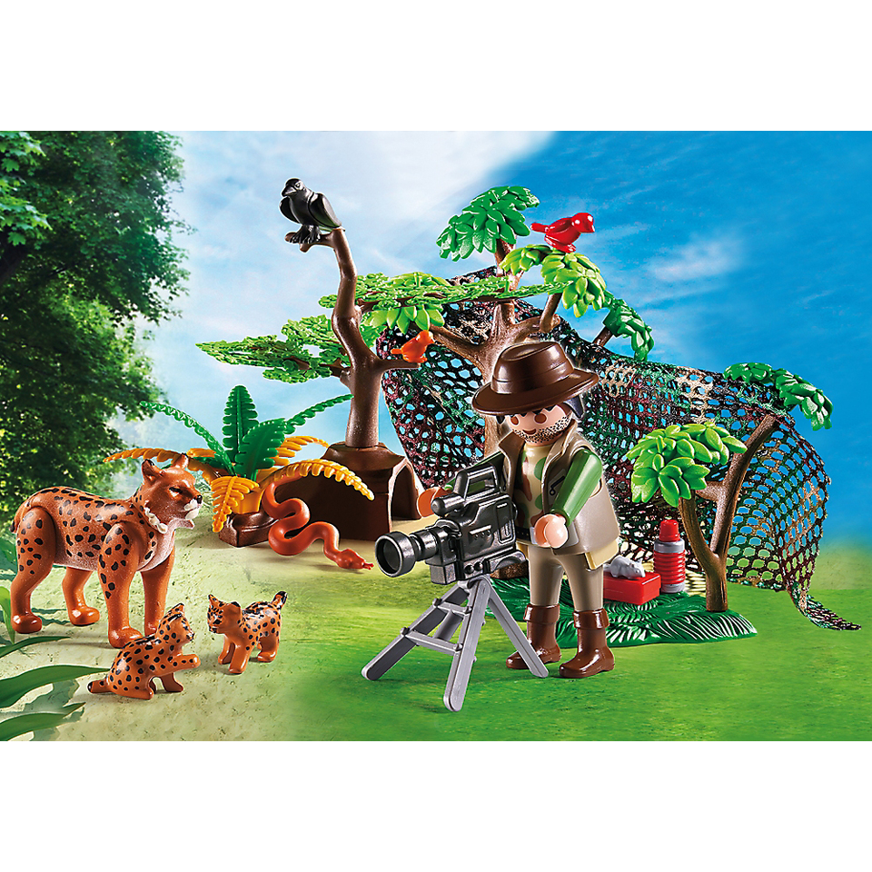 playmobil-wild-life-lynx-family-with-cameraman-5561