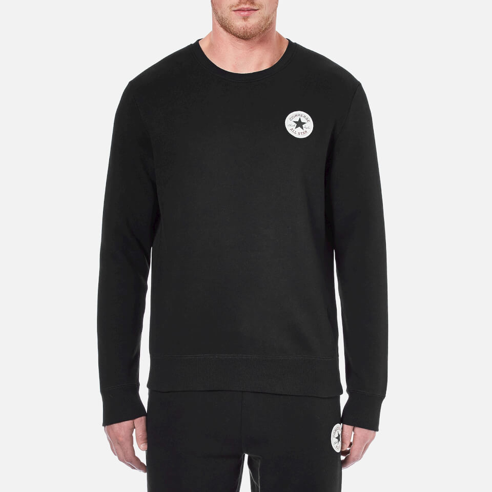 Converse Mens Crew Neck Sweatshirt Converse Black M