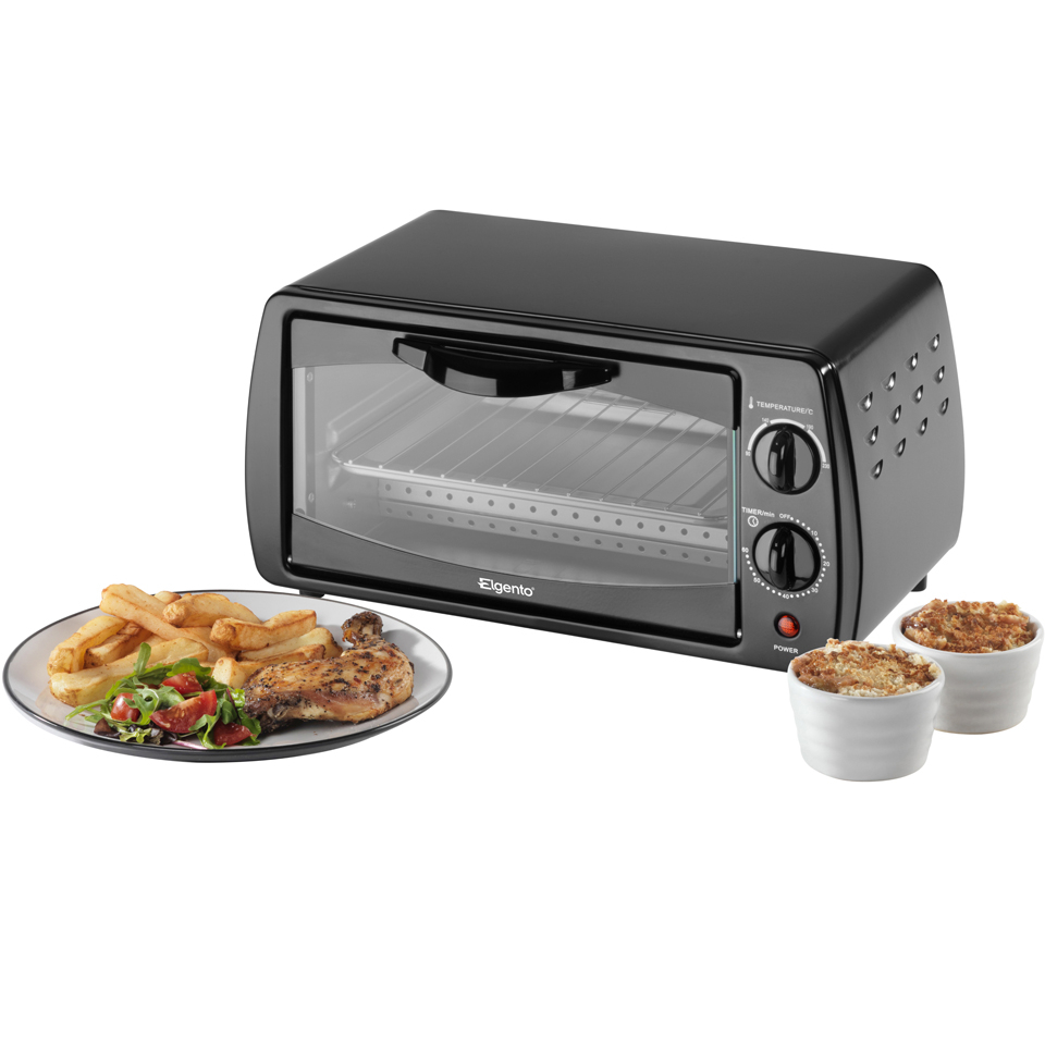 elgento-e14025-mini-oven-black-9l