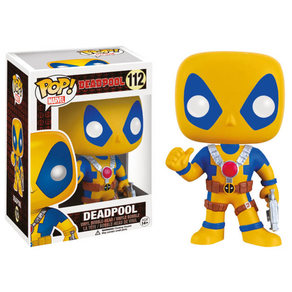 Marvel Deadpool Yellow Costume Pop Vinyl Bobble Head