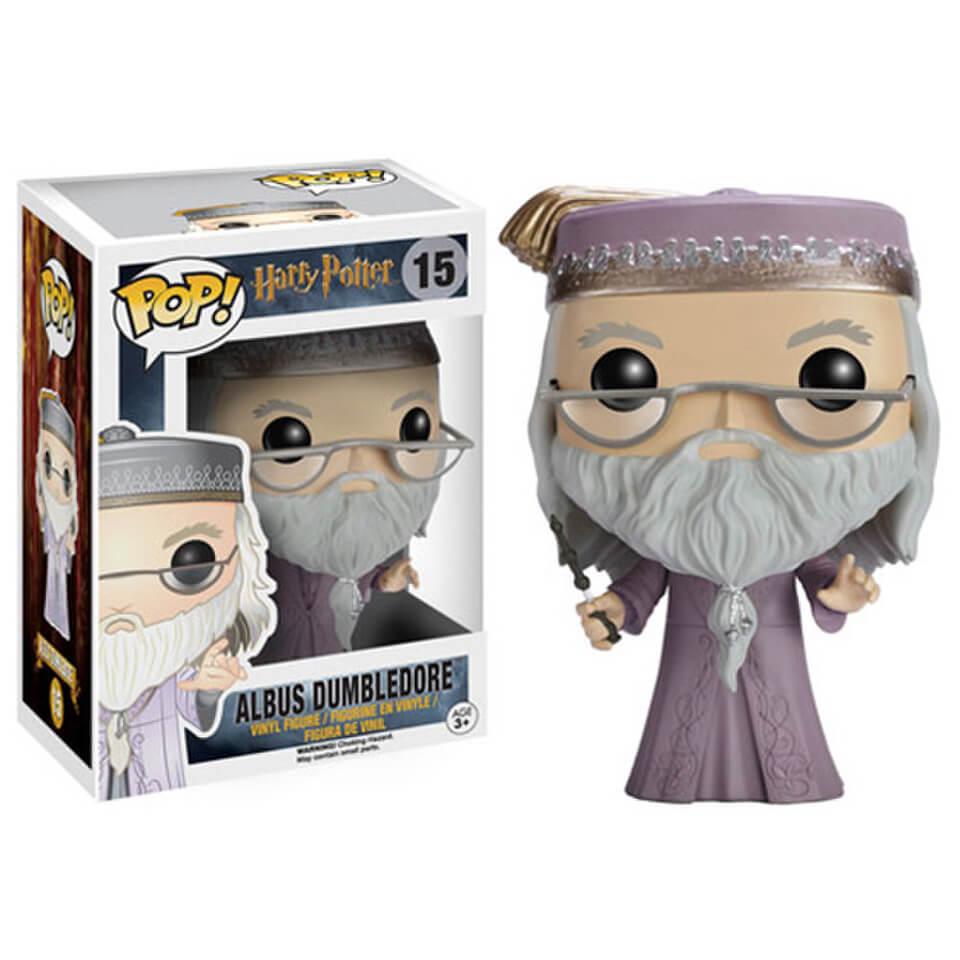 Harry Potter POP! Movies Vinyl Figur Dumbledore mit Zauberstab