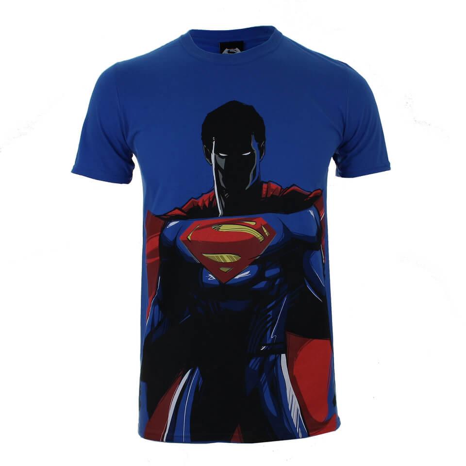 DC Comics Batman v Superman Superman Herren T Shirt Blau XL Blau