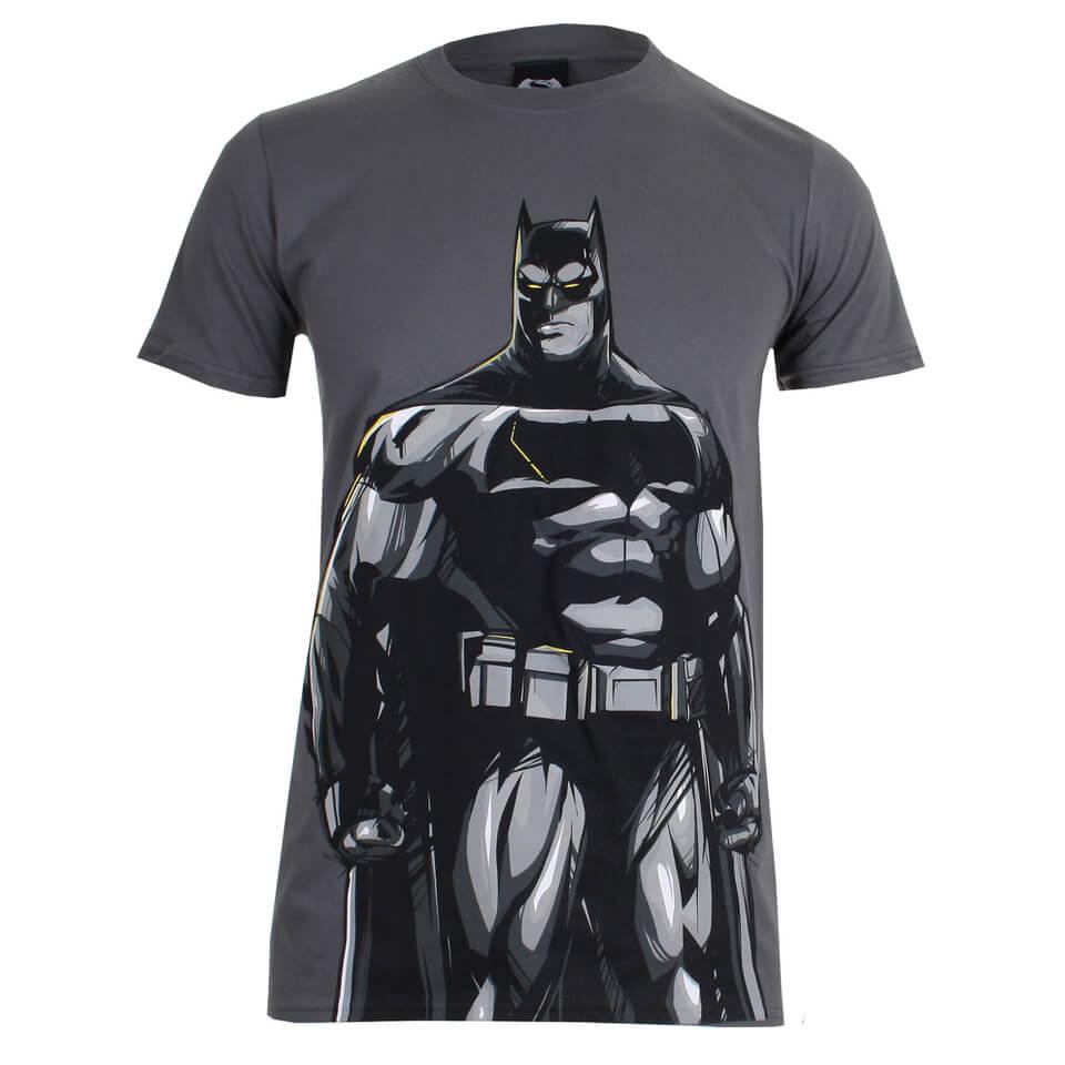 DC Comics Men's Batman v Superman Batman T Shirt Charcoal S