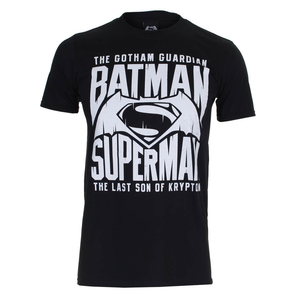 DC Comics Batman v Superman Gotham Guardian Herren T Shirt Schwarz S Schwarz