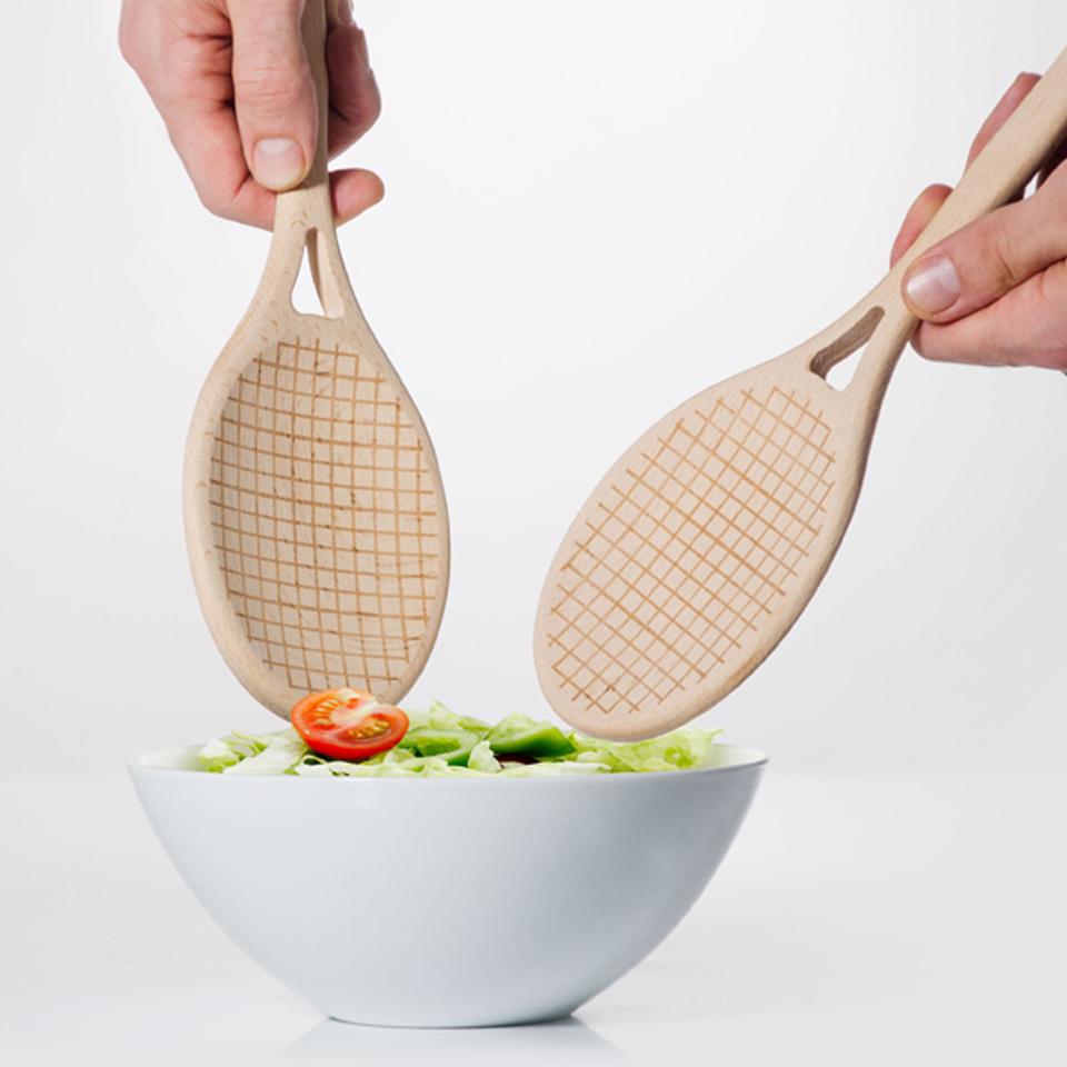 tennis-salad-servers
