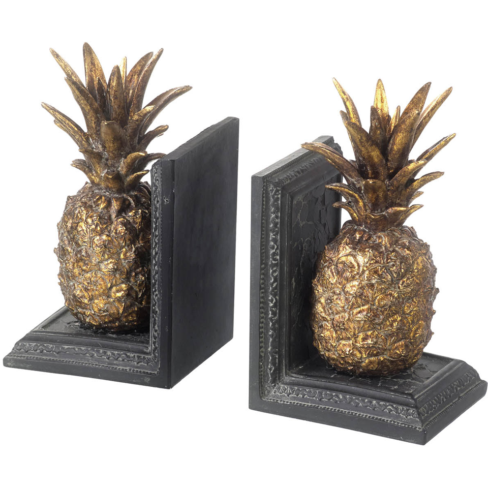 parlane-pineapple-bookends-metallic