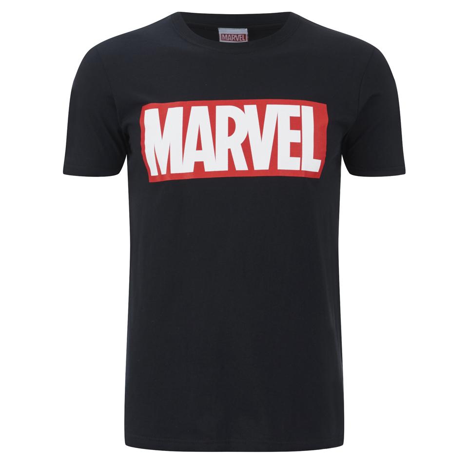 Marvel Comics Men's Core Logo T Shirt Black M