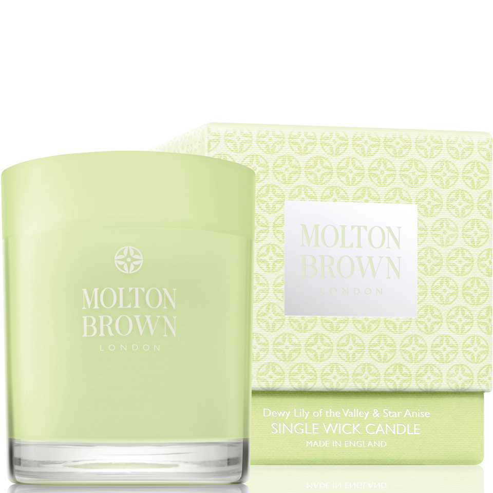 Molton Brown Dewy Lily of the Valley & Star Anise Single Wick Candle 180g 11245008