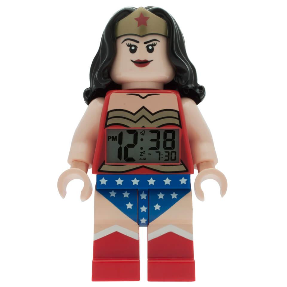 LEGO ® DC Comics Super Heroes Wonder Woman Minifiguren Uhr mit Wecker