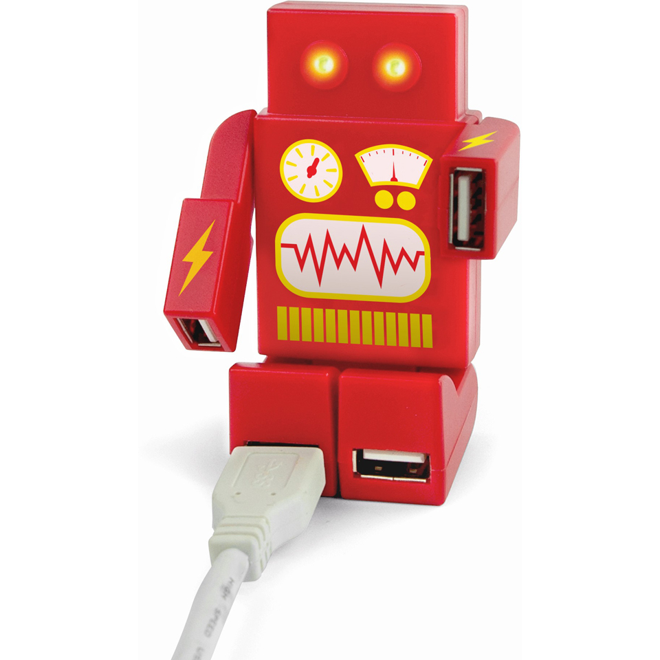 Robohub 2000 USB Hub Red