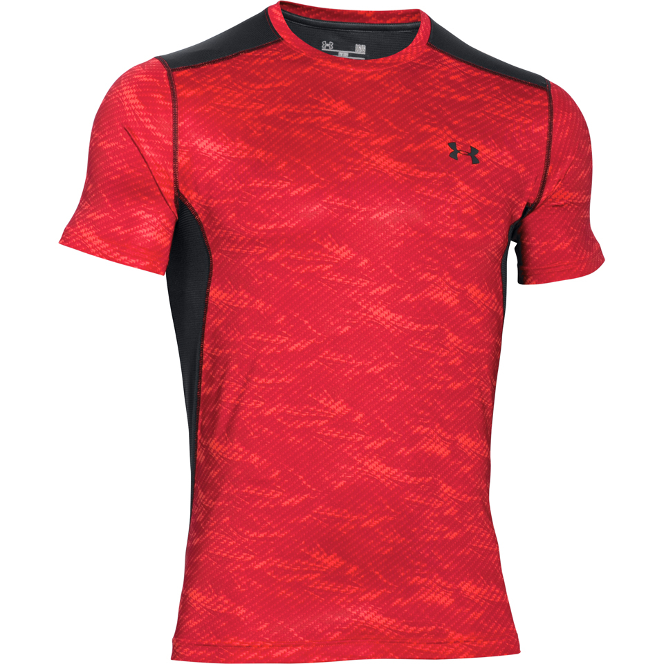 Under armour men 39 s raid short sleeve t shirt red black for Under armour i will shirt