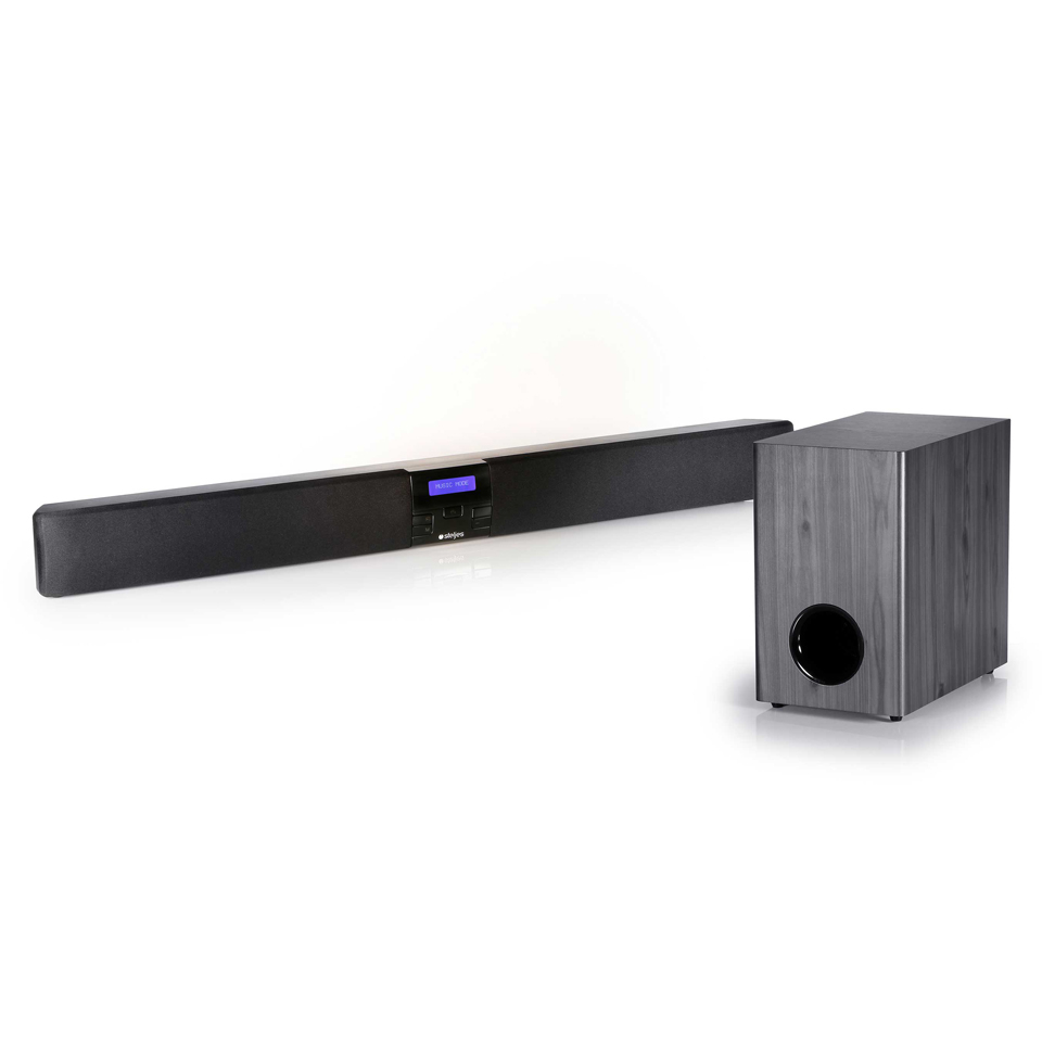 steljes-audio-erato-tv-sound-bar-with-wireless-sub-woofer-black-silver
