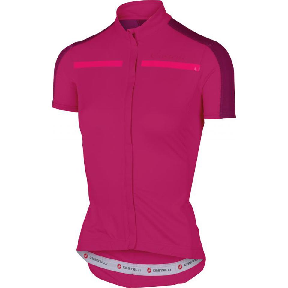 castelli-women-ispirata-short-sleeve-jersey-pink-s
